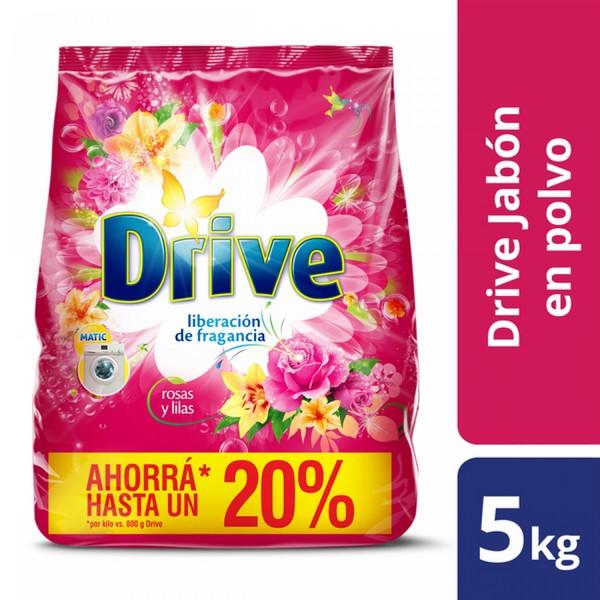 Jabón en polvo Drive matic rosas y lilas 5 kg