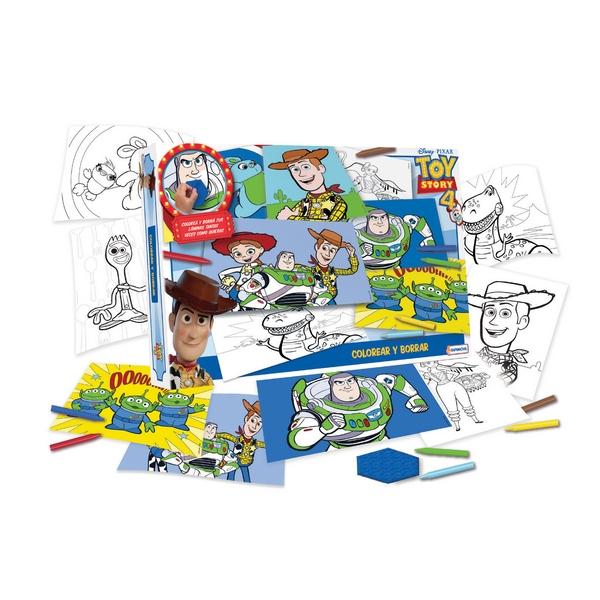 Juego Infantil Toy Story Para Colorear Y Borrar Con Accesorios X Un Art Dts07936