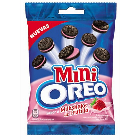 GALLETAS MINI OREO FRUTILLA X 50 GR.