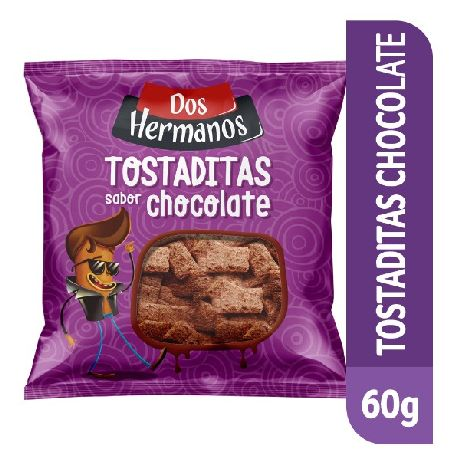TOSTADITAS DE ARROZ DOS HERMANOS CHOCOLATE X 60 GRS.