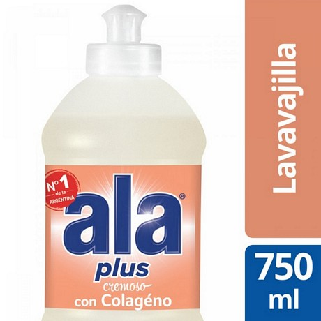 DETERGENTE ALA PLUS COLAGENO X 750 ML.