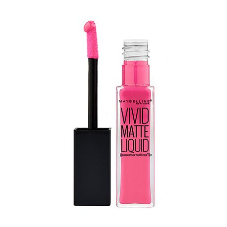 MAYBELLINE COLOR SENSATIONAL VIVID MATTES LABIAL LIQUIDO PINK CHARGE X 7.7 ML.