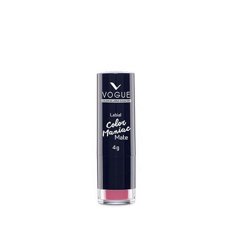 VOGUE COLOR MANIAC MATE LABIAL EN BARRA COQUETA X 4 GR.