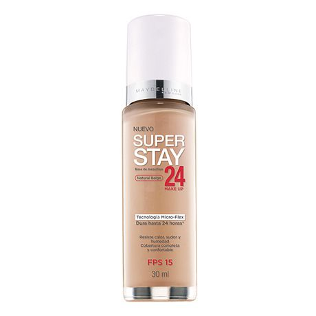 MAYBELLINE  SUPER STAY FOUNDATION  BASE DE MAQUILLAJE LIQUIDO NATURAL BEIGE X 30 ML.