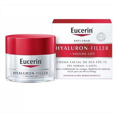 EUCERIN HYALURON-FILLER + VOLUME LIFT CREMA DIA PIEL NORMAL X 50 ML.