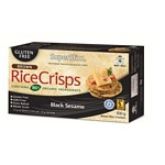 GALLETAS DE ARROZ INTEGRAL RICE CRISPS CON SESAMO NEGRO X 100 GR.