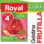 GELATINA ROYAL FRUTILLA LIGHT X 25 GR.