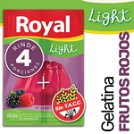 GELATINA ROYAL FRUTOS ROJOS LIGHT X 25 GR.