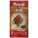 MOUSSE ROYAL DULCE DE LECHE X 65 GR.