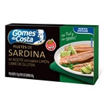 FILET DE SARDINAS GOMES DA COSTA AL LIMON X 125 GR.