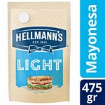 MAYONESA HELLMANNS LIGHT DOY PACK X 475 GR.