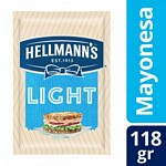 MAYONESA HELLMANNS LIGHT SACHET X 118 GR.