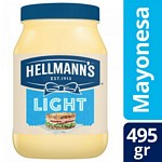 MAYONESA HELLMANNS LIGHT FRASCO X 495 GR.