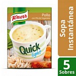 SOPA KNORR QUICK POLLO Y VEGETALES LIGHT X 5 UN.