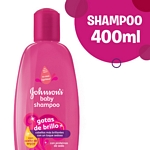 SHAMPOO JOHNSON BABY GOTAS DE BRILLO X 400 ML.