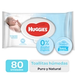 TOALLAS HUMEDAS HUGGIES PURO Y NATURAL X 80 UN.