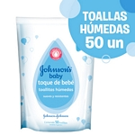 TOALLAS HUMEDAS JOHNSON BABY TOQUE DE BEBE X 50 ML.
