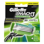 CARTUCHO GILLETTE MATCH3 SENSITIVE X 4 UN.