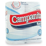 PAPEL HIGIENICO CAMPANITA SIMPLE HOJA SOFT X 30 MT. X 12 UN.