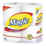 PAPEL HIGIENICO MAGIC X 4 UN. X 30 MT.