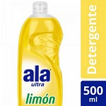 DETERGENTE ALA ULTRA LIMON X 500 ML.