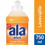 DETERGENTE ALA PLUS FRUTAS CITRICAS X 750 ML.