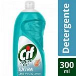 DETERGENTE CIF ACTIVE GEL ALOE Y LIMON X 300 ML.