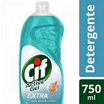 DETERGENTE CIF ACTIVE GEL ALOE VERA X 750 ML.