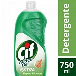 DETERGENTE CIF ACTIVE GEL PEPINO X 750 ML.