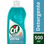 DETERGENTE CIF ACTIVE GEL ALOE VERA X 500 ML.