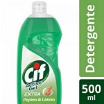 DETERGENTE CIF ACTIVE GEL PEPINO X 500 ML.
