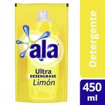 DETERGENTE ALA ULTRA LIMON DP X 450 ML.