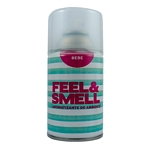 DESODORANTE DE AMBIENTE FEEL & SMELL BEBE REPUESTO X 270 ML.