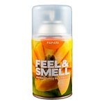 DESODORANTE DE AMBIENTE FEEL & SMELL PAPAYA REPUESTO X 270 ML.