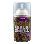 DESODORANTE DE AMBIENTE FEEL & SMELL LAVANDA REPUESTO X 270 ML.