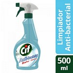 LIMPIADOR CIF ANTI BACTERIAL GATILLO X 500 ML.