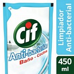 LIMPIADOR CIF ANTI BACTERIAL DOY PACK X 450 ML.