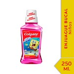 ENJUAGUE BUCAL COLGATE PLAX BOB ESPONJA X 250 ML.