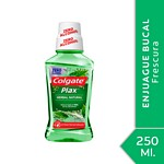 ENJUAGUE BUCAL COLGATE PLAX HERBAL NATURAL X 250 ML.