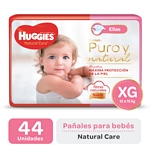 "PAÑAL HUGGIES NATURAL CARE ""ELLAS"" SUPER XG X 44 UN."