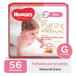 "PAÑAL HUGGIES NATURAL CARE ""ELLAS"" SUPER G X 56 UN."