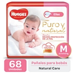 "PAÑAL HUGGIES NATURAL CARE ""ELLAS"" SUPER M X 68 UN."