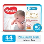 "PAÑAL HUGGIES NATURAL CARE ""ELLOS"" SUPER XG X 44 UN."
