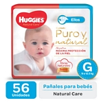 "PAÑAL HUGGIES NATURAL CARE ""ELLOS"" SUPER G X 56 UN."