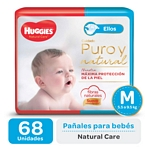 "PAÑAL HUGGIES NATURAL CARE ""ELLOS"" SUPER M X 68 UN."