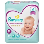 PAÑAL PAMPERS PREMIUM CARE M X 24 UN.