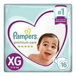 PAÑAL PAMPERS PREMIUM CARE XG X 16 UN.