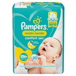 PAÑAL PAMPERS CONFORT SEC RN X 20 UN.