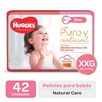 "PAÑAL HUGGIES NATURAL CARE ""ELLAS"" SUPER XXG X 42 UN."