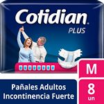 PAÑAL COTIDIAN PLUS ADULTO MEDIO X 8 UN.